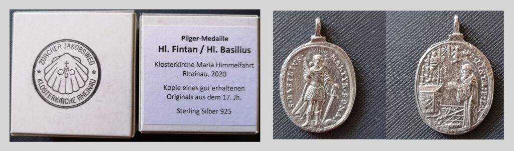 Pilger-Medaille Hl. Fintan und Hl. Basilius